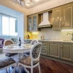 кухня совмещенная с балконом идеи дизайн