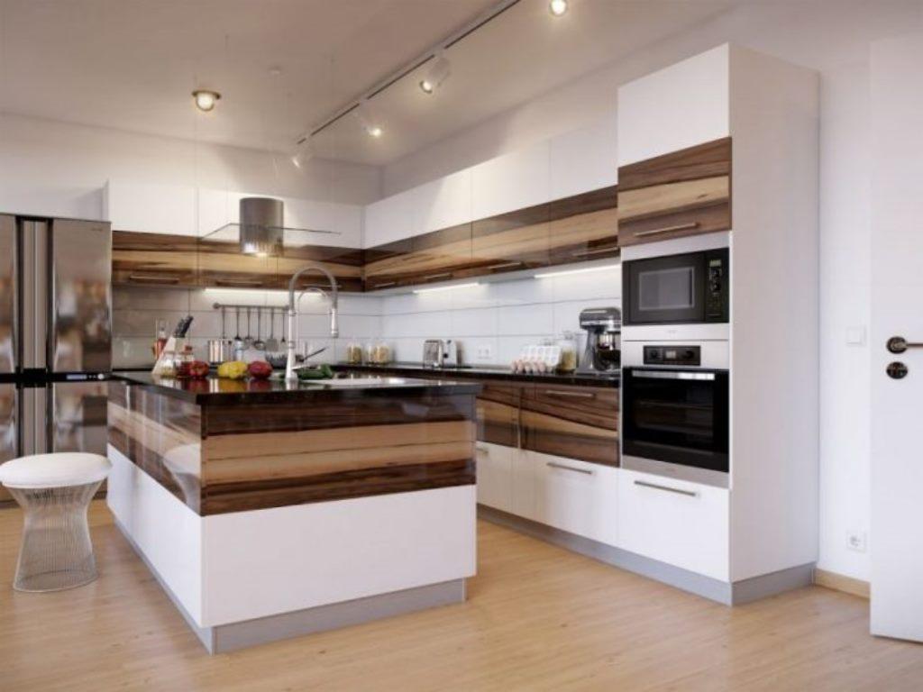 дизайн кухни с ламинатом