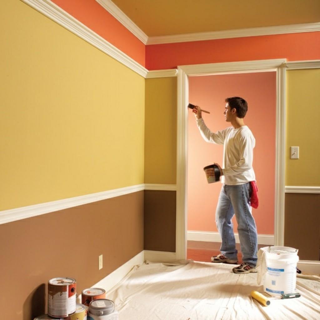 латексная краска для стен фото