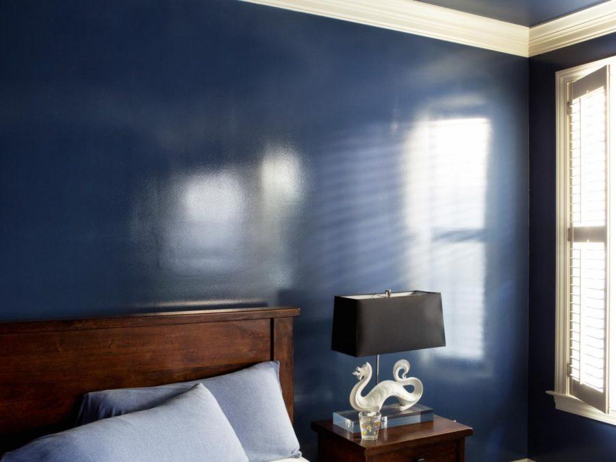 латексная краска в спальне