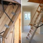 лестница на чердак интерьер