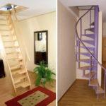 лестница на чердак фото интерьера