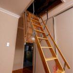 лестница на чердак виды дизайна