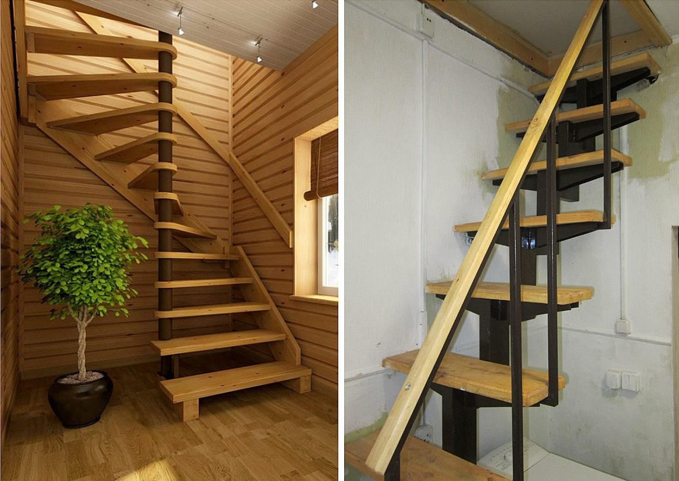 лестница на чердак дерево