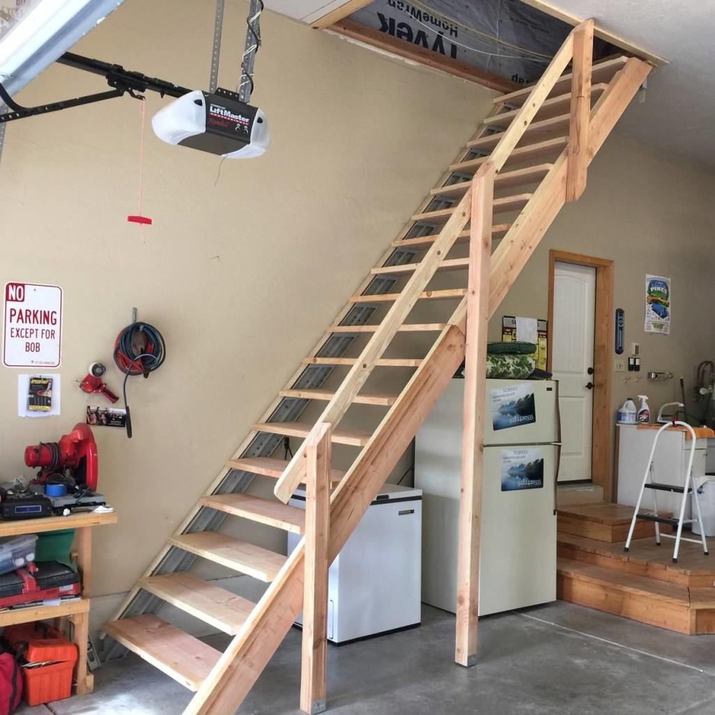 лестница на чердак стационарная фото