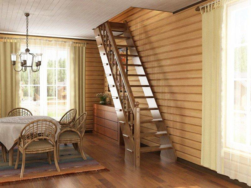 лестница на чердак стационарная