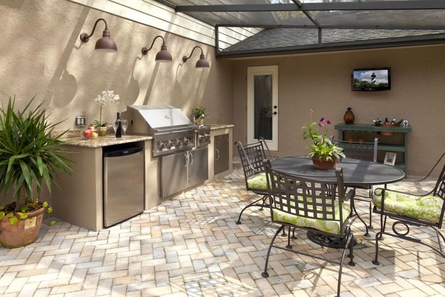 летняя кухня фото дизайна
