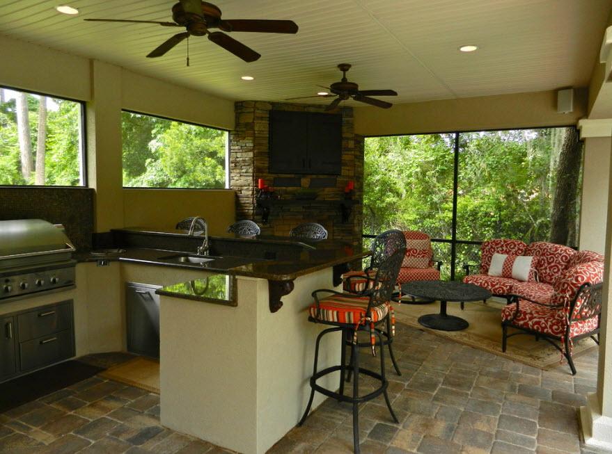 мебель на летней кухне