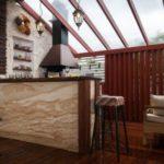 летняя кухня на даче интерьер фото