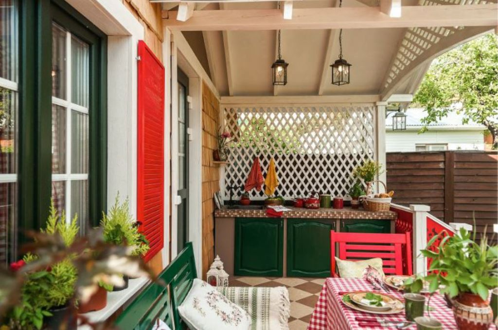 летняя кухня на террасе