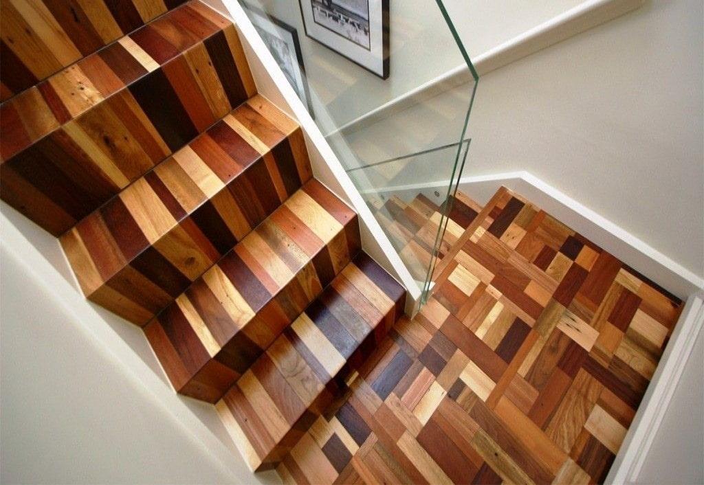 линолеум на лестнице