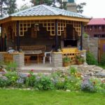 мангальная зона на даче декор фото