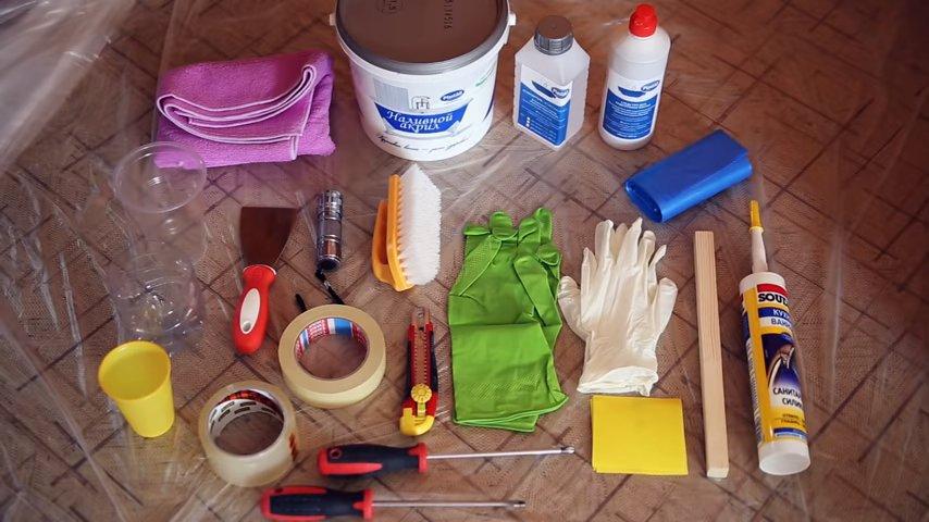 набор для покраски ванны