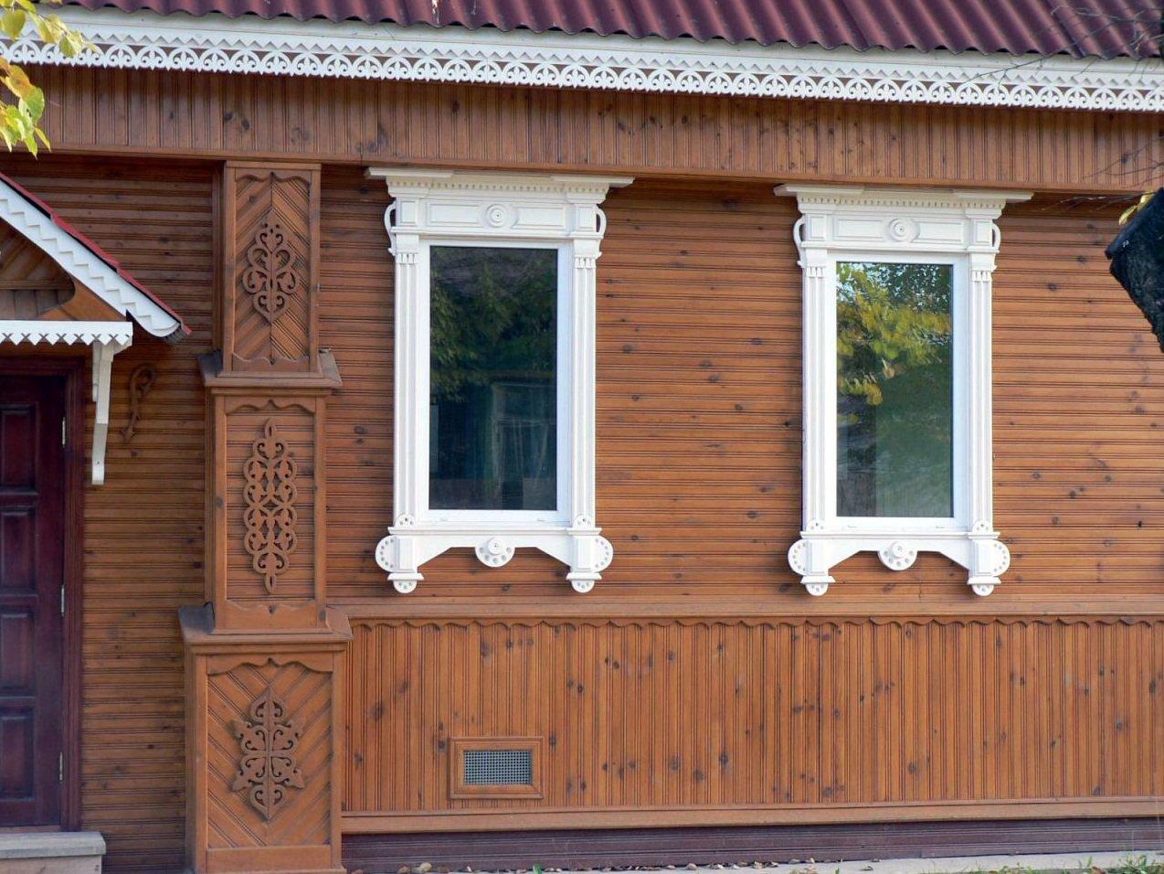 наличники на окна деревянные фото