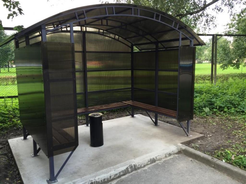 навес из поликарбоната павильон для курения