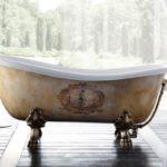 необычные ножки для ванны фото интерьера