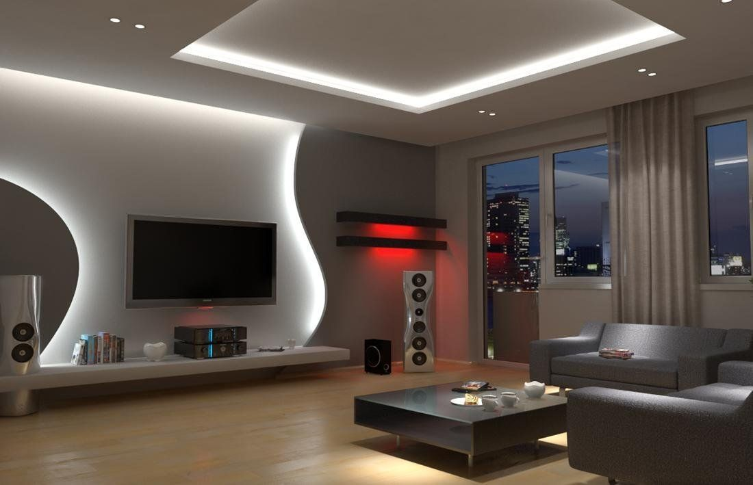 ниша под телевизор с подсветкой