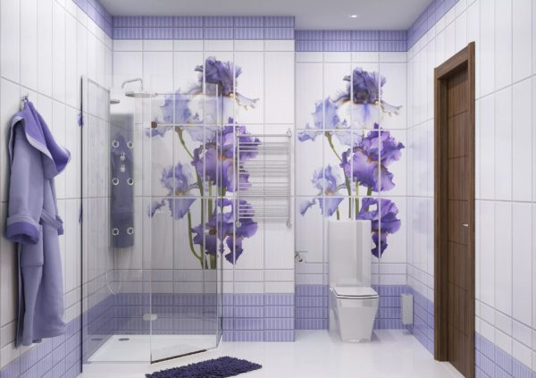 В ванной комнате пластиковые панели легко крепятся и могут прослужить долгие годы