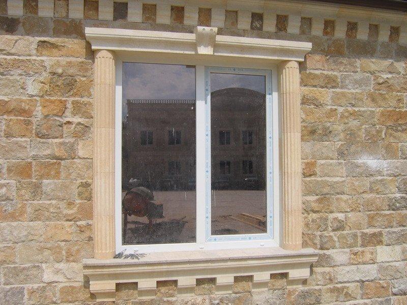 откосы на окна наружные из камня