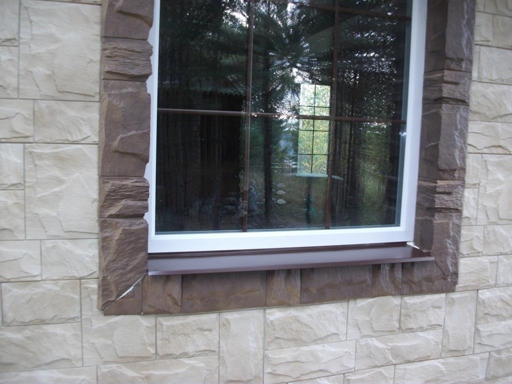 откосы на окна наружные камень