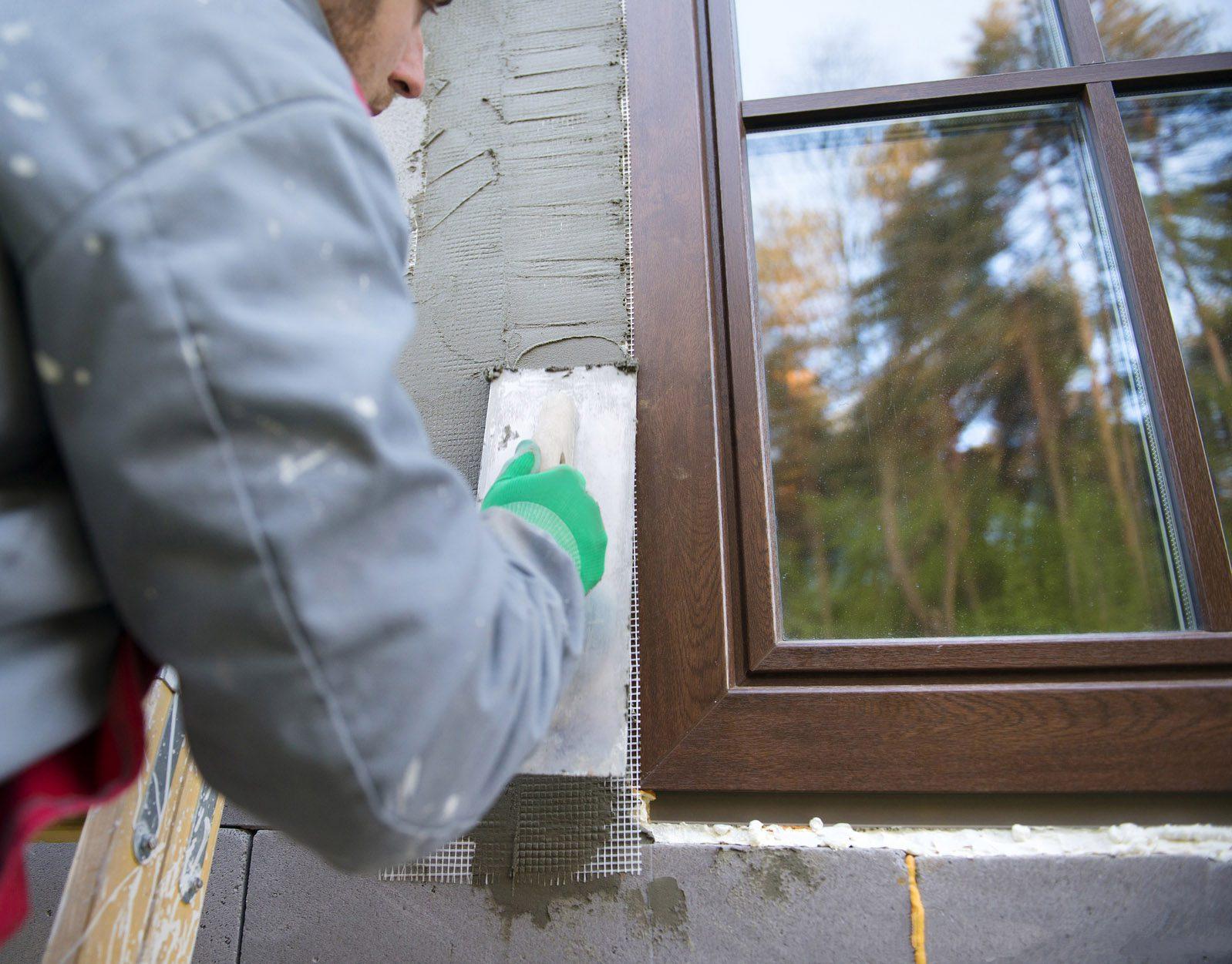 откосы на окна наружные штукатурка