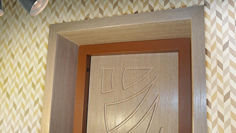 оформление откосов межкомнатных дверей фото лёгкие