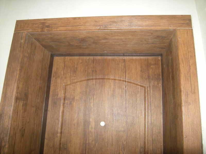 откосы на входную дверь мдф фото