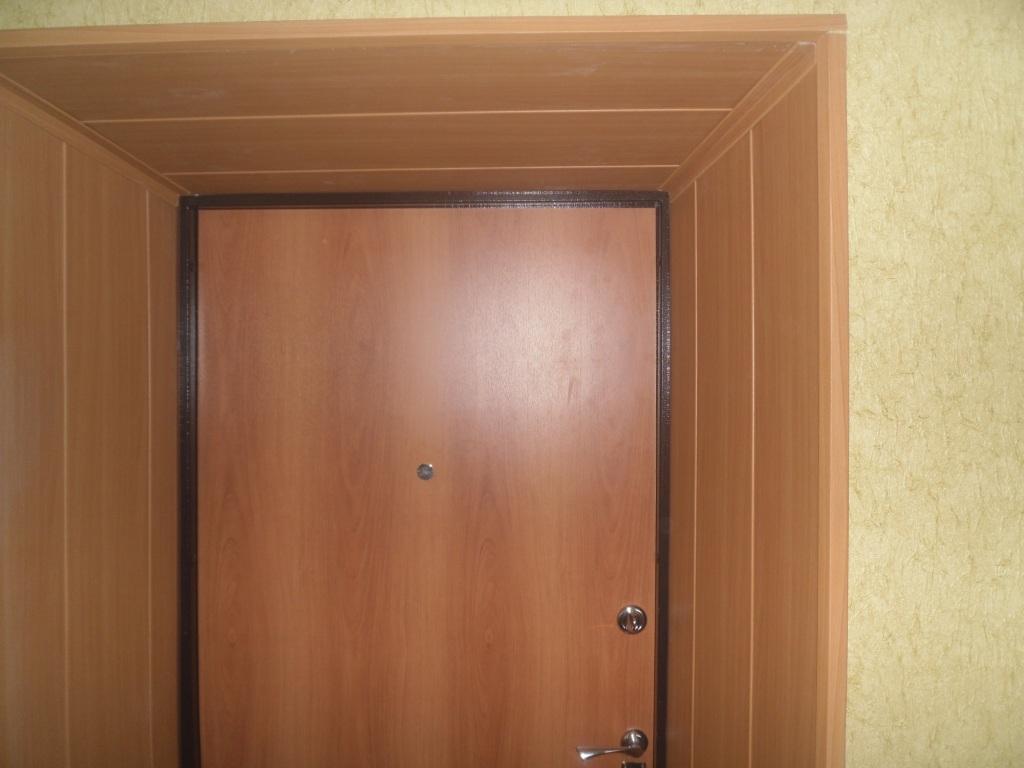 откосы на входную дверь мдф