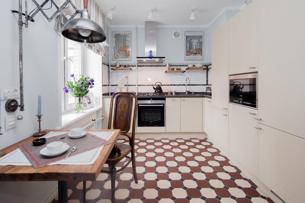 стильная плитка на пол для кухни