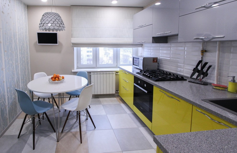 плитка для кухни на пол фото идеи
