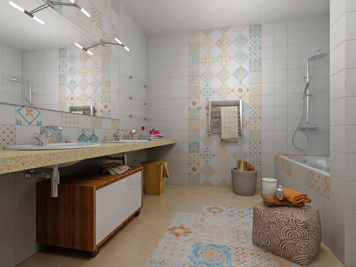 пэчворк плитка в ванной