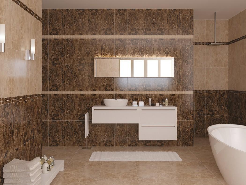 плитка под камень конгломерат в ванной