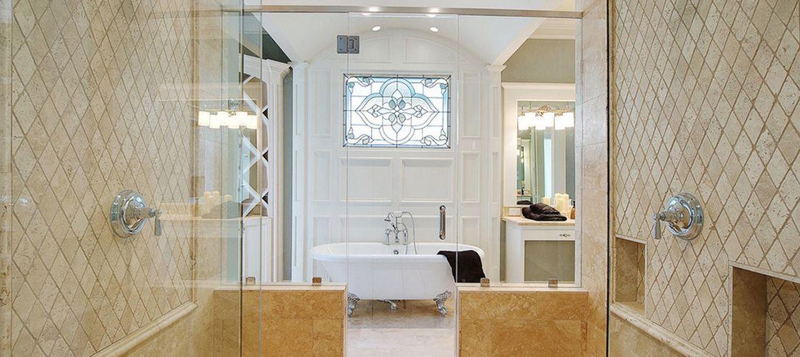 плитка в ванной по диагонали