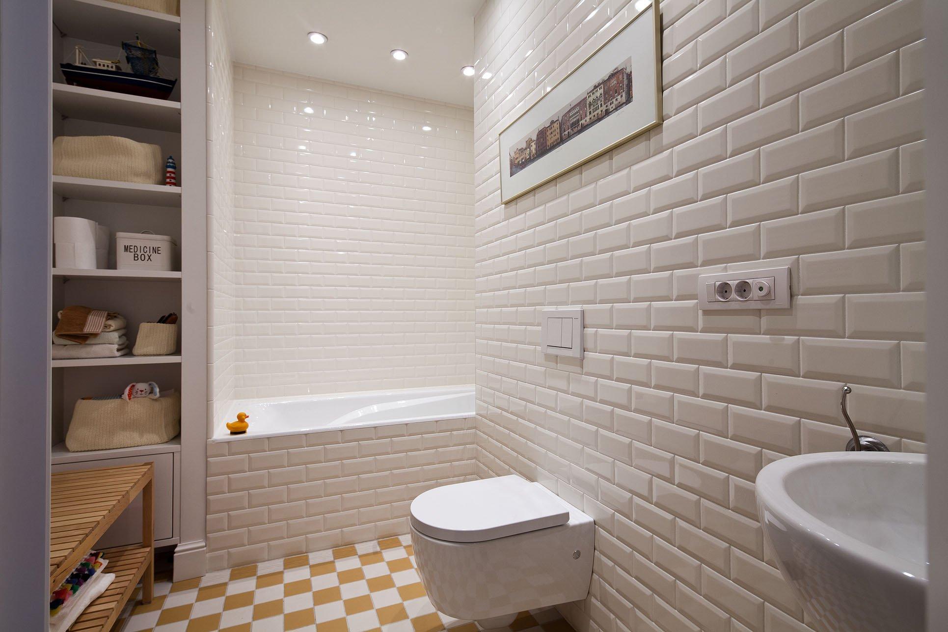плитка в ванной под кирпич