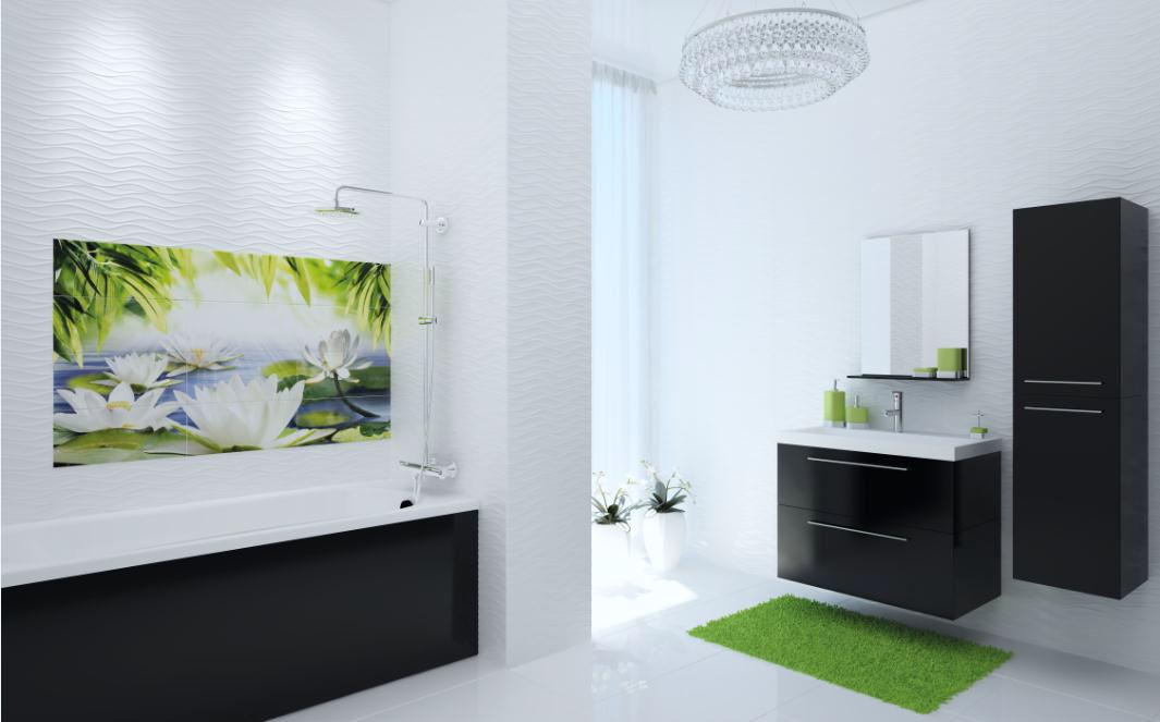 плитка в ванной природные мотивы