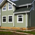 покраска деревянного дома фото декора
