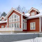 покраска деревянного дома идеи дизайна