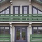 покраска деревянного дома фото декор