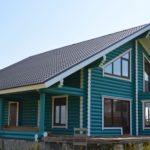 покраска деревянного дома фото