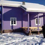 покраска деревянного дома фото оформления