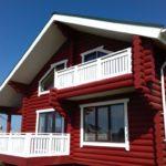 покраска деревянного дома обзор фото