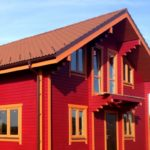 покраска деревянного дома фото обзор