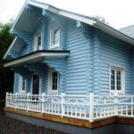 покраска деревянного дома фото обзоры