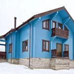 покраска деревянного дома виды дизайна