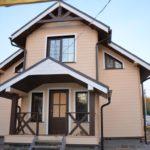 покраска деревянного дома фото видов