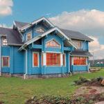 покраска деревянного дома фото идеи