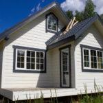 покраска деревянного дома фото дизайна