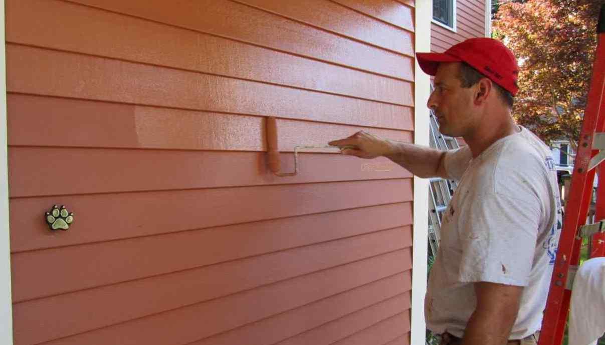 покраска фасада своими руками