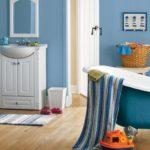 покраска стен в ванной комнате идеи декор