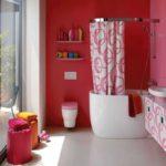покраска стен в ванной комнате интерьер идеи